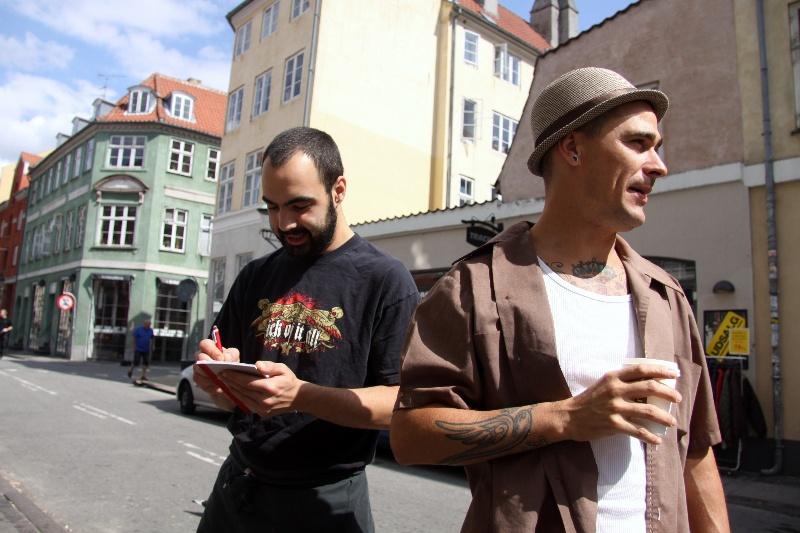 Sköna människor i Köpenhamn