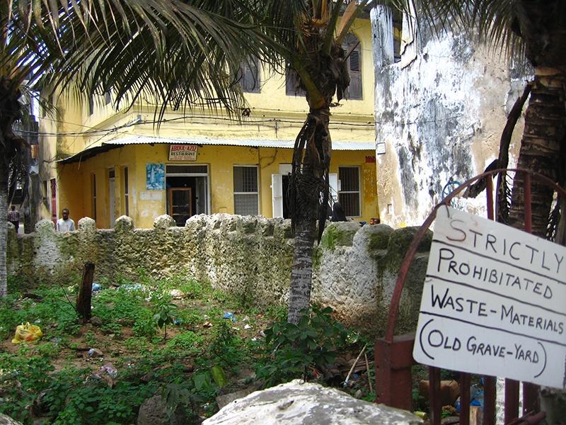Kyrkogård på Zanzibar