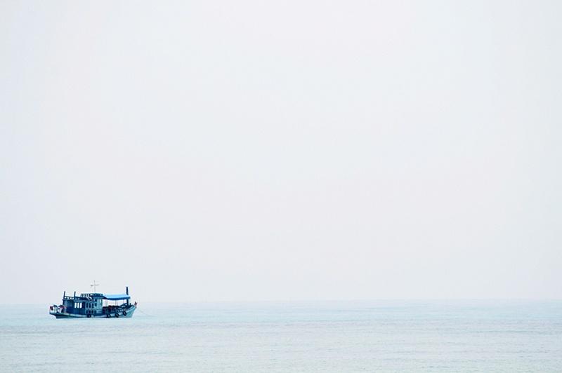 Båt vid Zanzibar
