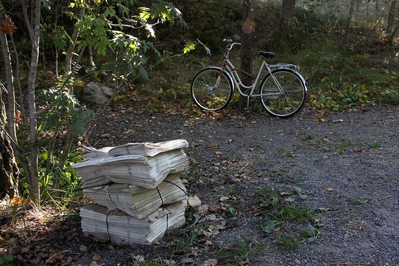 Cykelbud som tröttnade / Bagarmossen Stockholm