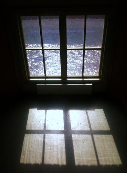Fönster på Frövis pappersbruksmuseum
